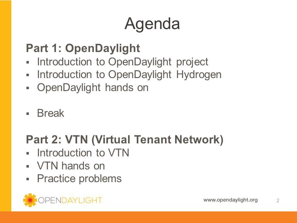 www.opendaylight.org  Start mininet.