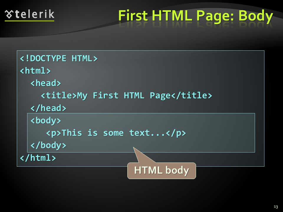 <html> My First HTML Page My First HTML Page This is some text...