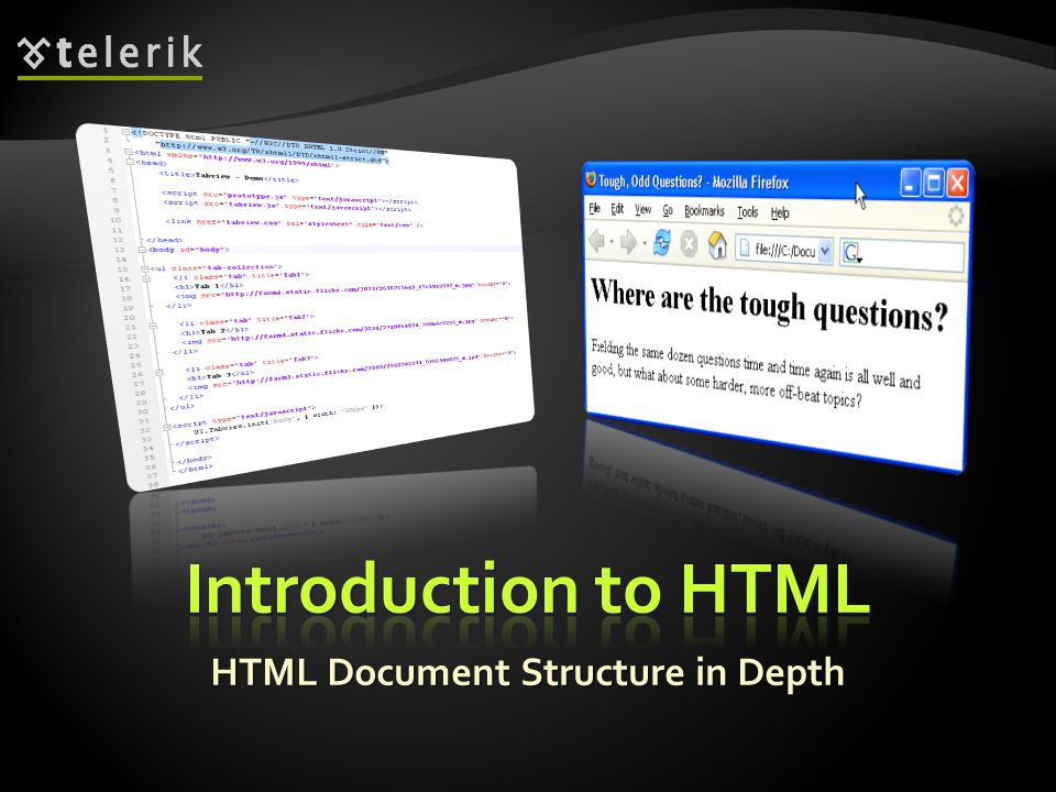 HTML Document Structure in Depth