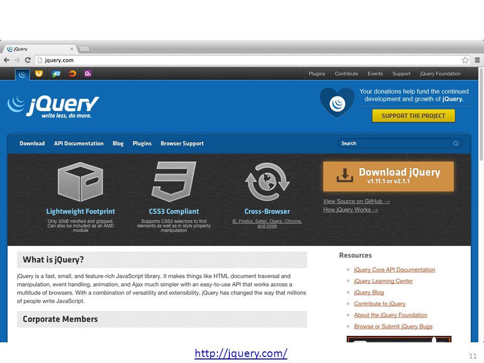 11 http://jquery.com/
