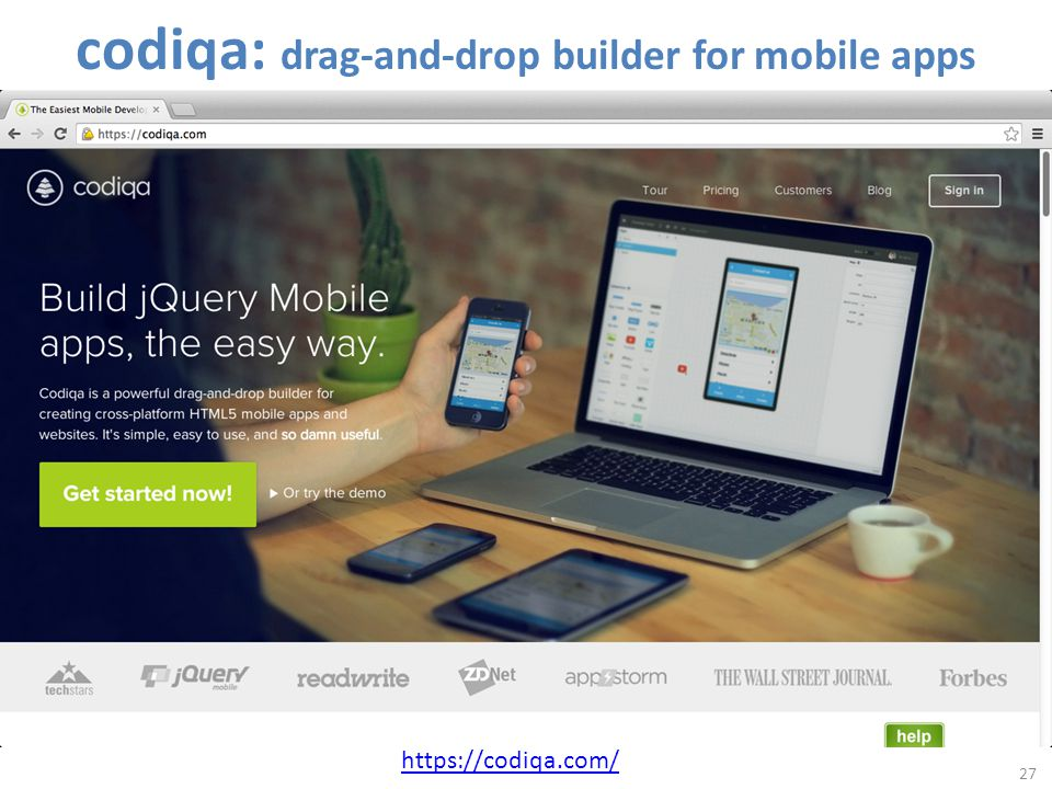 27 https://codiqa.com/ codiqa: drag-and-drop builder for mobile apps