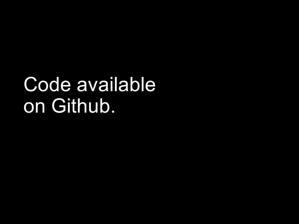 Code available on Github.
