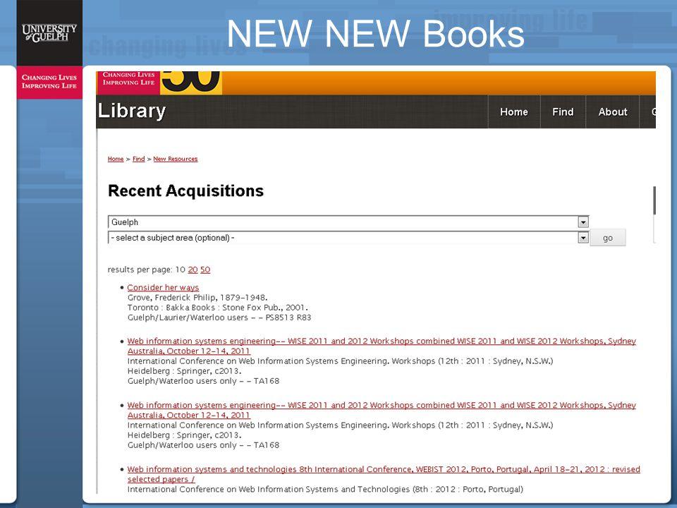 NEW NEW Books