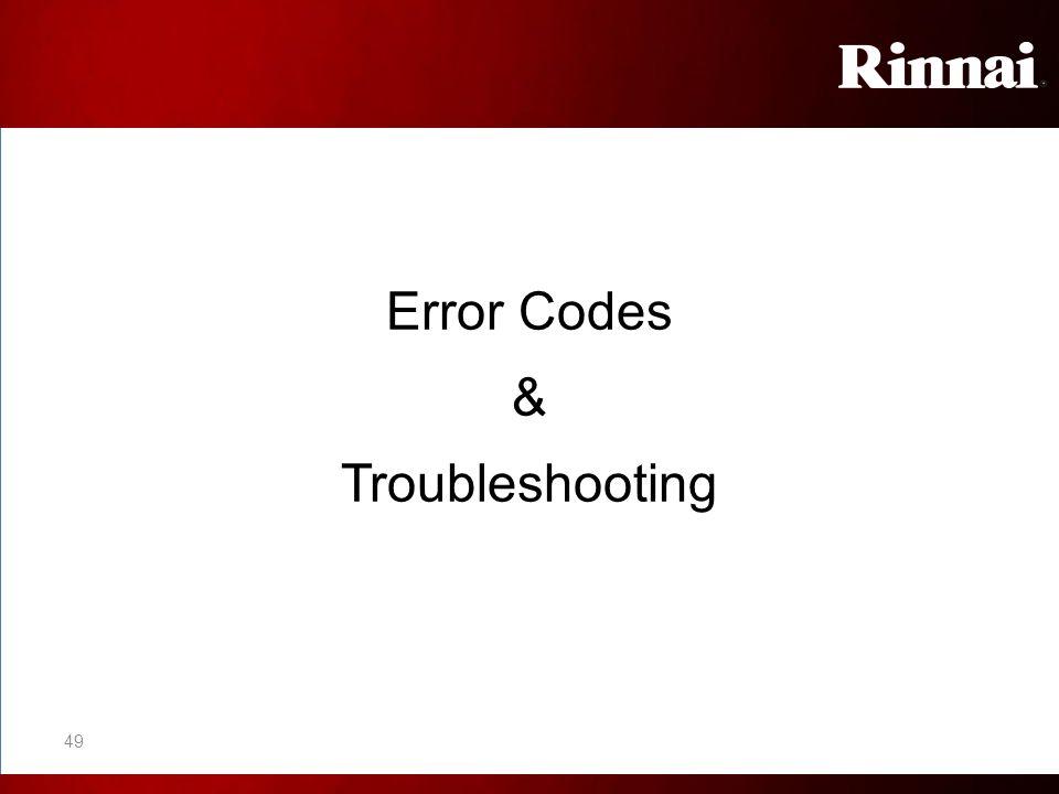 Error Codes & Troubleshooting 49