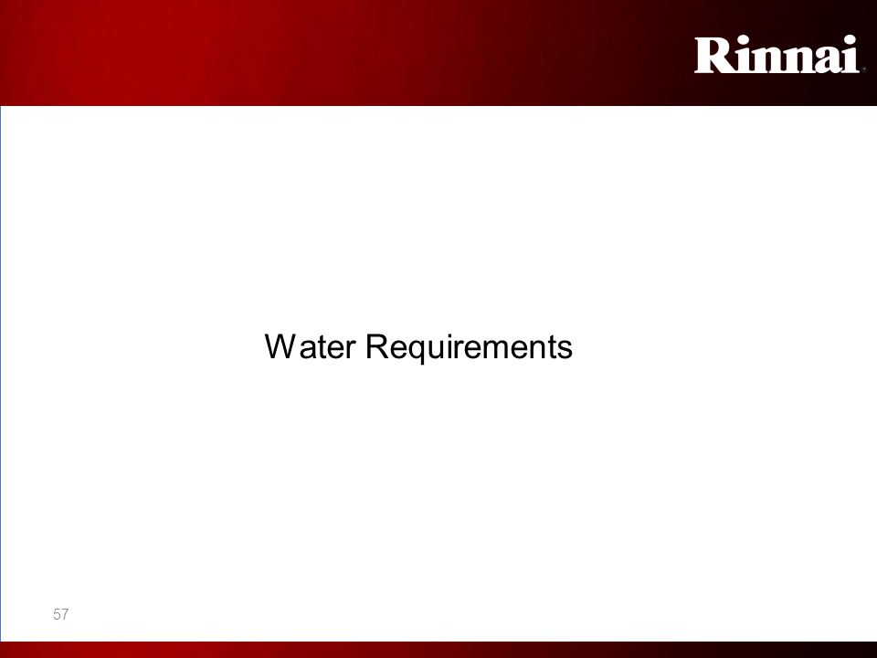 Water Requirements 57