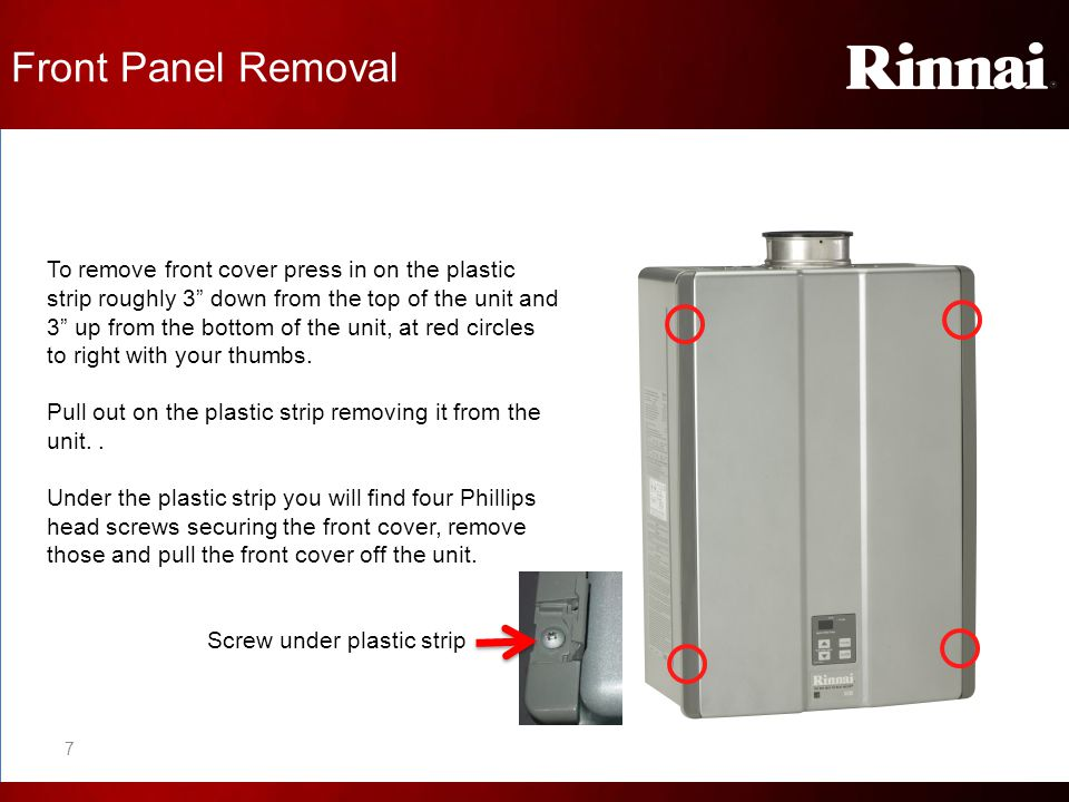 Front Panel Information Under the front panel of the unit you will find a wiring diagram and technical data sheet.