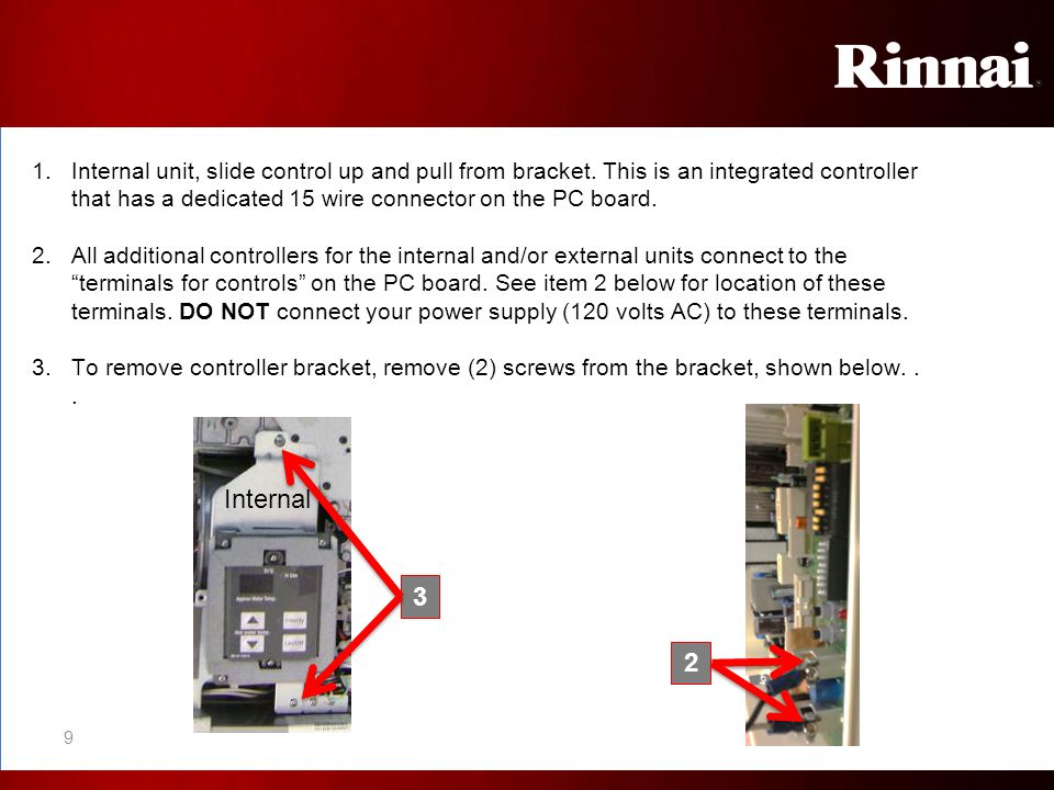 Diagnostic Codes A 2-digit maintenance code will flash on the temperature controller when water is flowing.