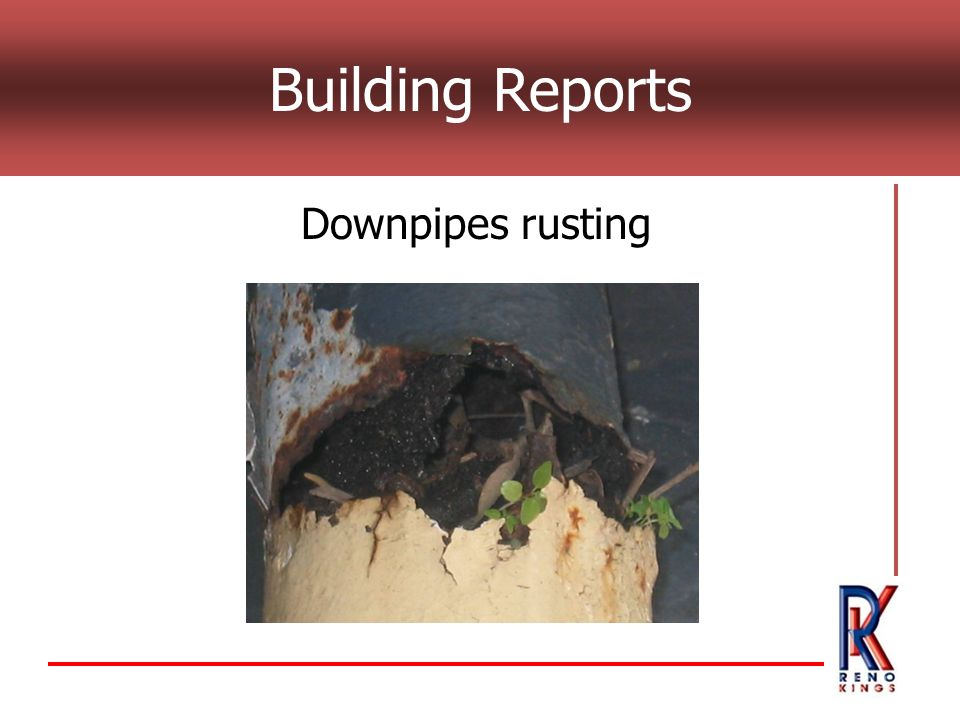 Building Reports Downpipes rusting