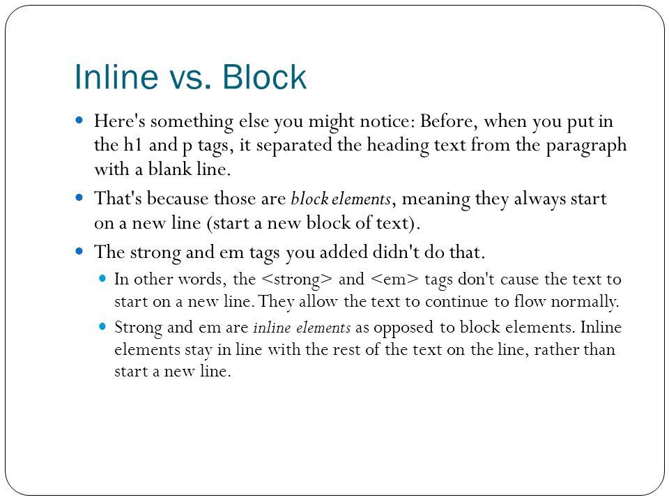Inline vs.