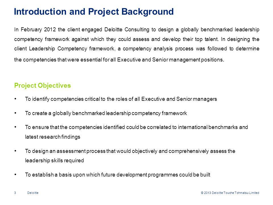 © 2013 Deloitte Touche Tohmatsu Limited24Deloitte Integrated Individual Scores - Example Roles1 Example Candidate DDI2.10 OPQ2.63 EQ-I1.95 Req.