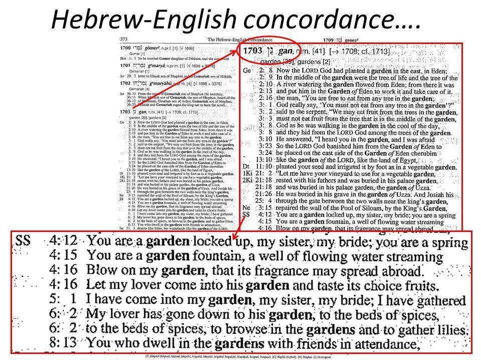Hebrew-English concordance….