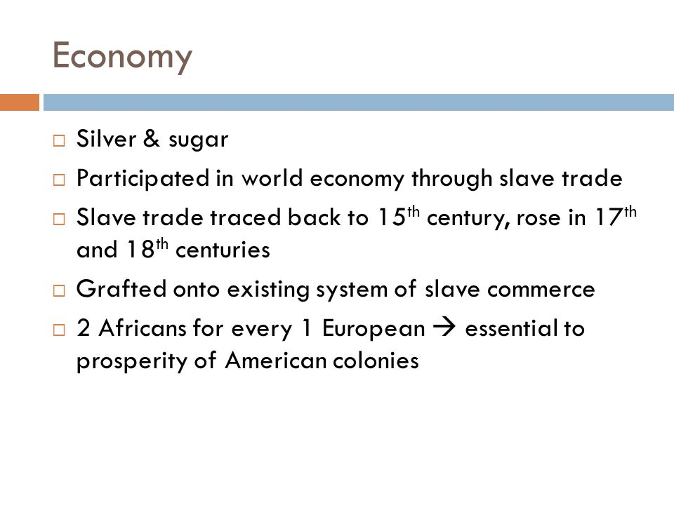 Economy  Merchants shipped slaves around Indian Ocean  More slaves sent to Americas once plantation agriculture began to spread  W.
