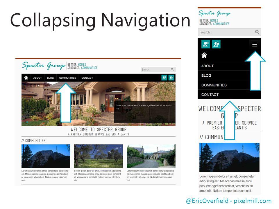 Collapsing Navigation