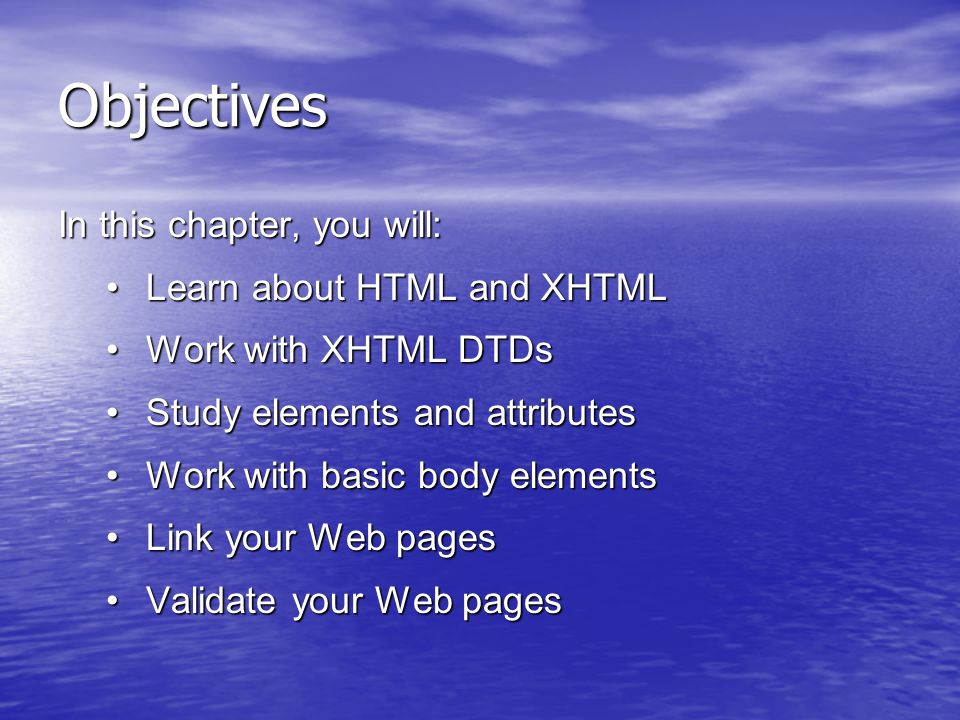 Creating Lists A definition list is a list of terms and their definitions.