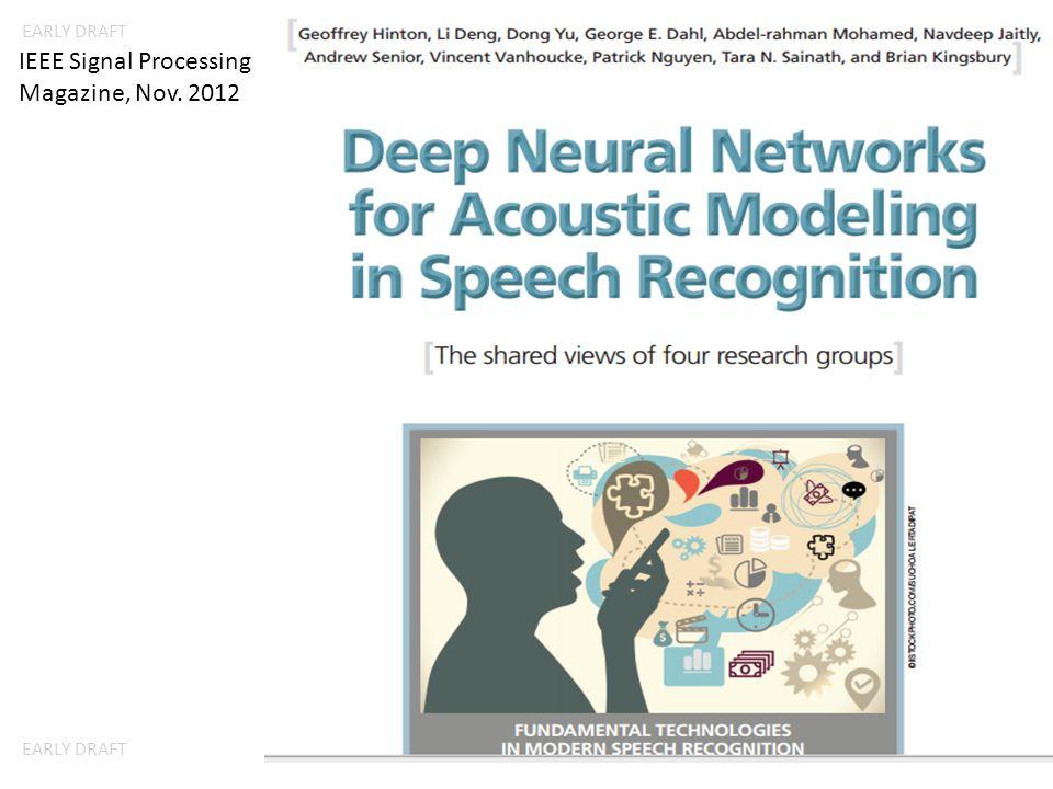 EARLY DRAFT IEEE Signal Processing Magazine, Nov. 2012