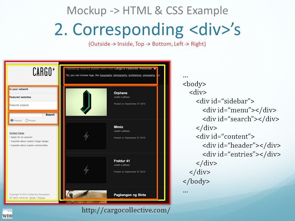 Mockup -> HTML & CSS Example 2.