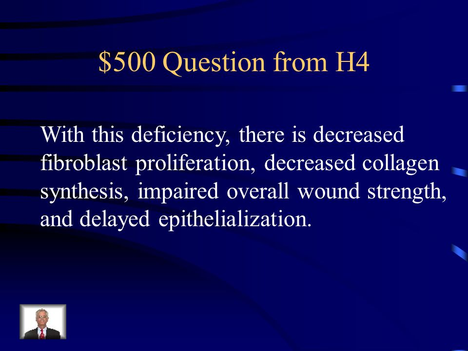 $400 Answer from H4 Vitamin A
