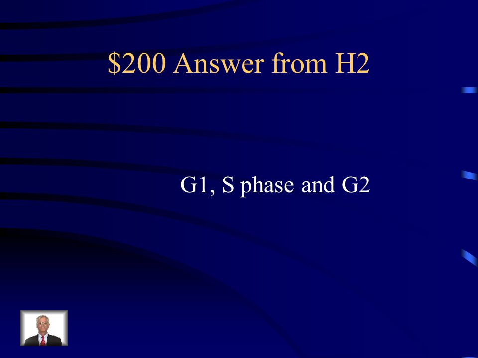 $200 Question from H2 Interphase is divided into what three Phases?