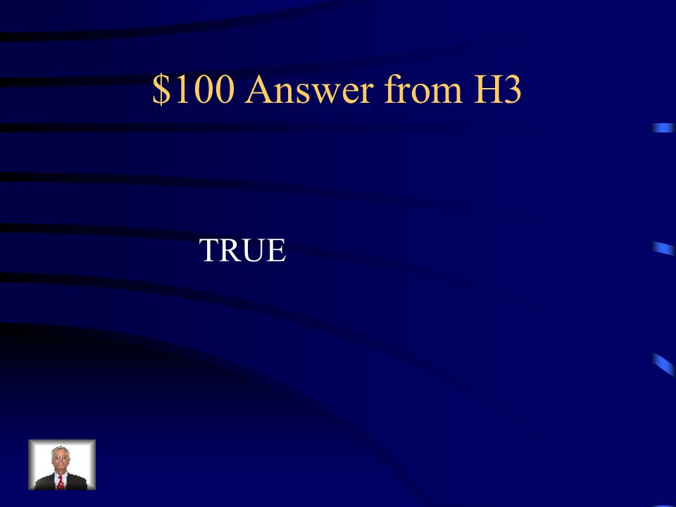 $100 Question from H3 True or False As a cells grows in size, its volume increases more rapidly than its surface area.
