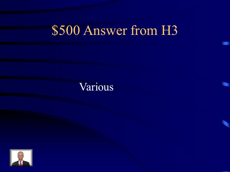 $500 Question from H3 Name 2 differences in mitosis & meiosis.