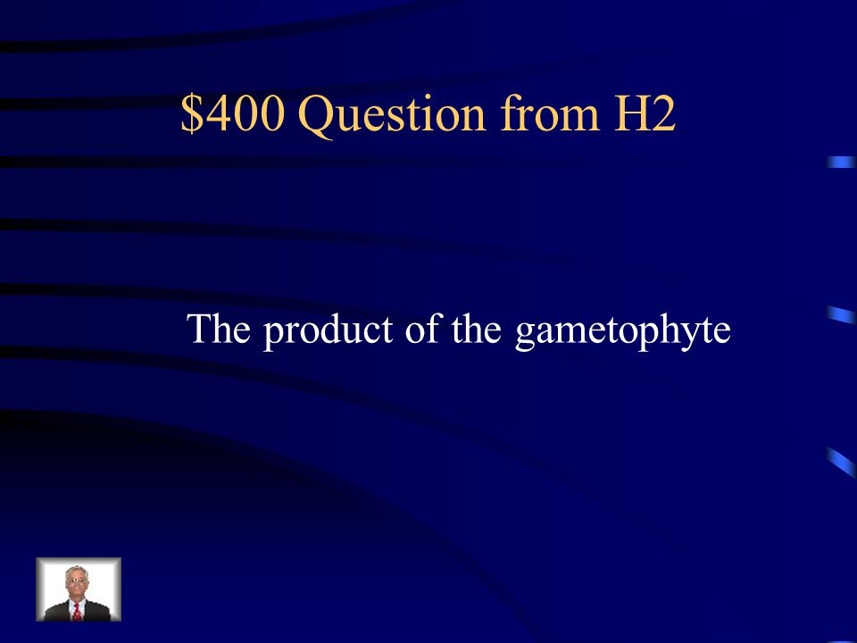 $300 Answer from H2 What is a gametophyte