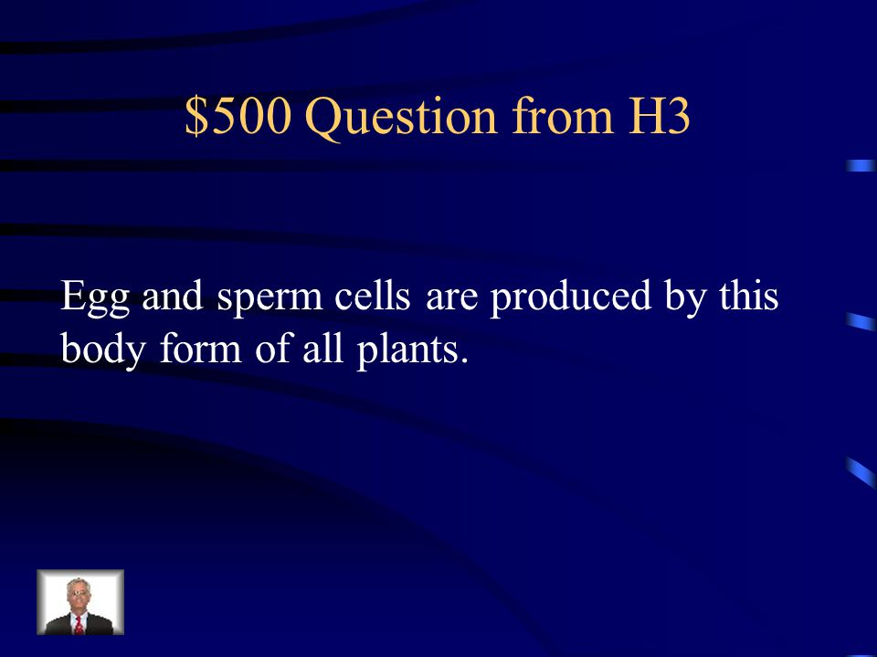 $400 Answer from H3 What is the gametophyte?