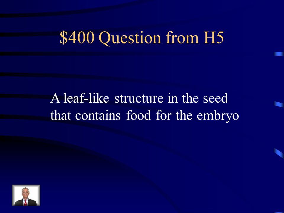 $300 Answer from H5 What is a monocot