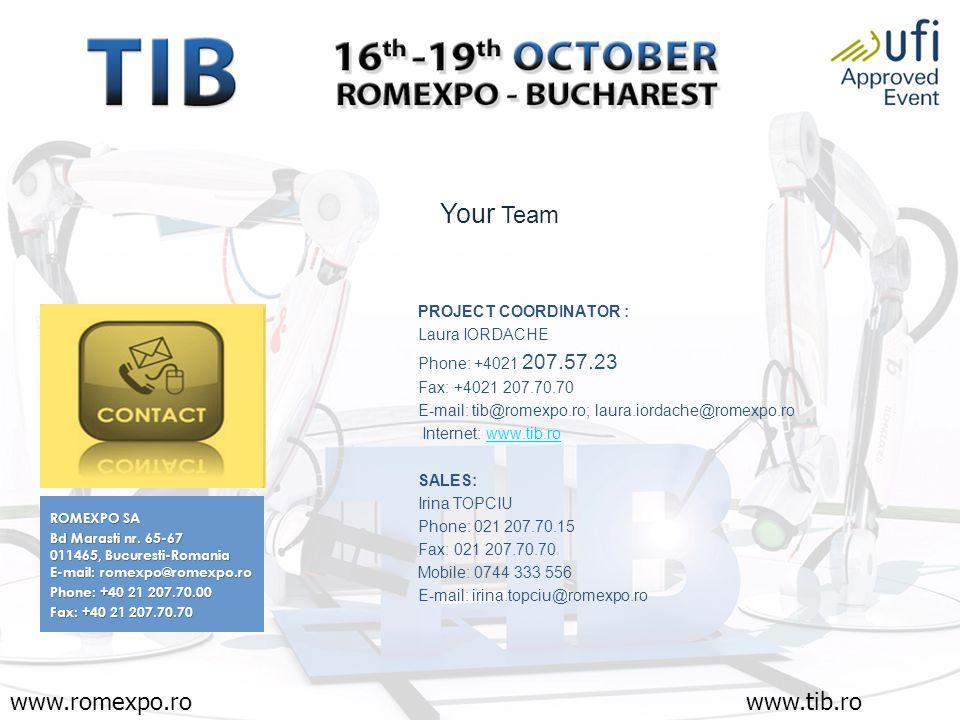 www.romexpo.rowww.tib.ro ROMEXPO SA Bd Marasti nr.
