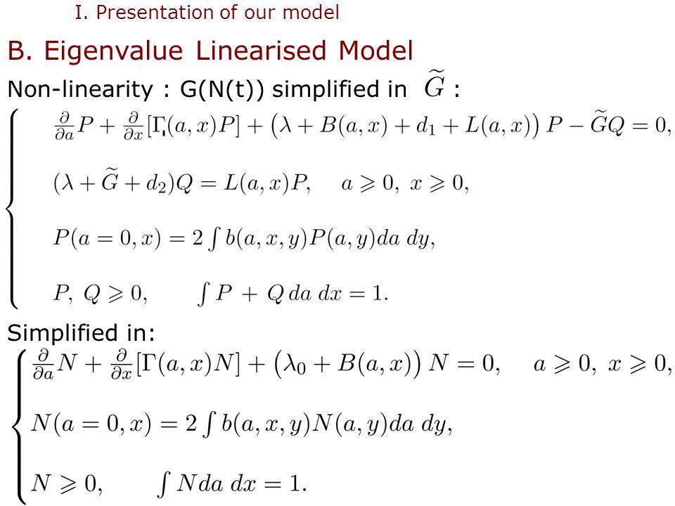 12 I. Presentation of our model B.