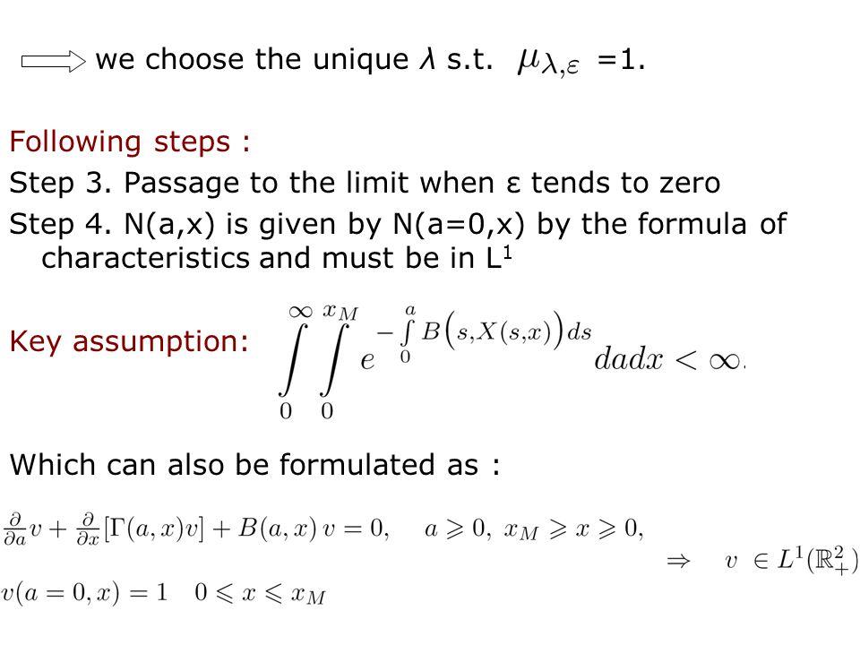22 we choose the unique λ s.t. =1. Following steps : Step 3.