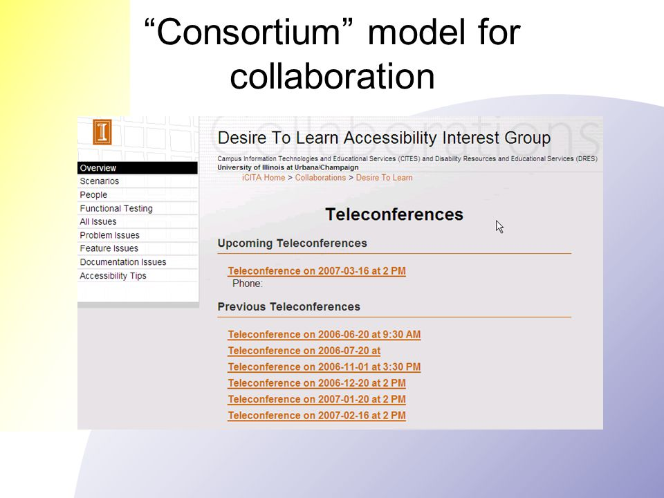 Consortium model for collaboration