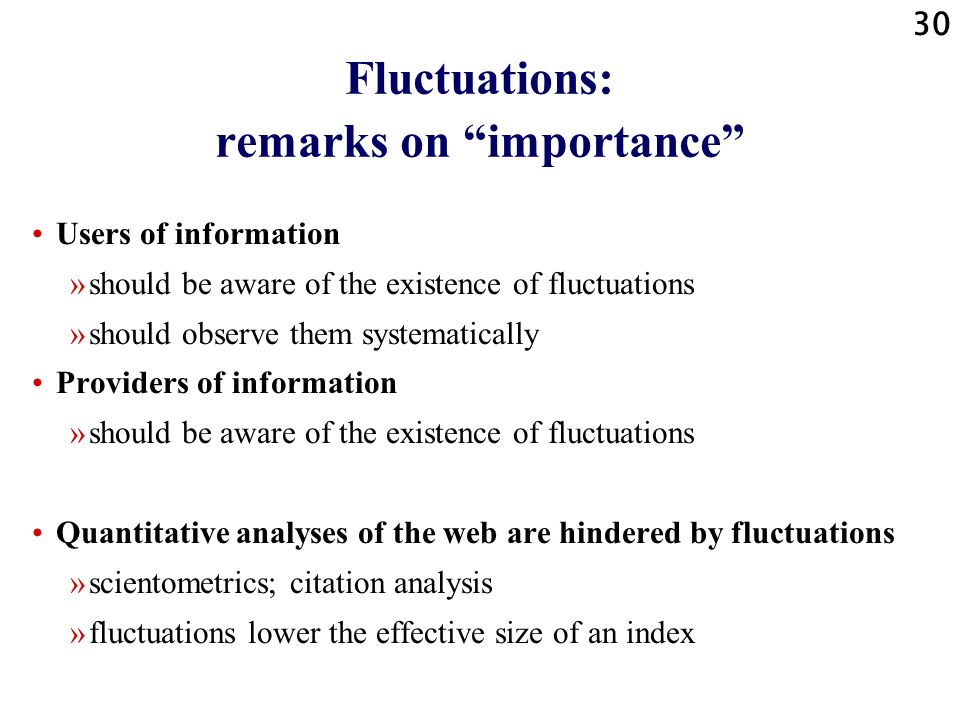 """29 Fluctuations: remarks on """"size"""" No relation document / element fluctuations """"size"""" Percentage missed documents determines (with other reducing effe"""