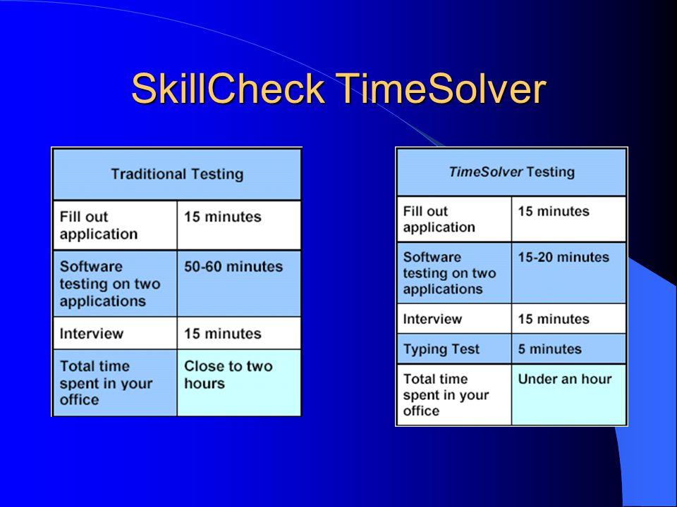 SkillCheck TimeSolver