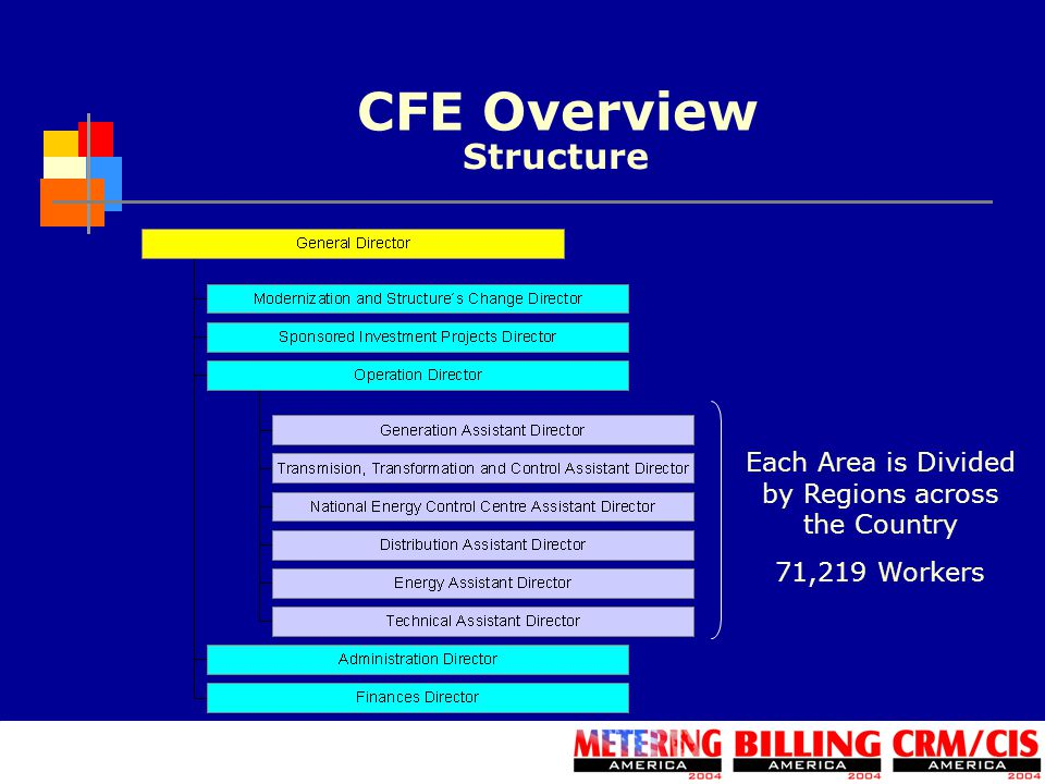 CFE Overview Each Area is Divided by Regions across the Country 71,219 Workers Structure
