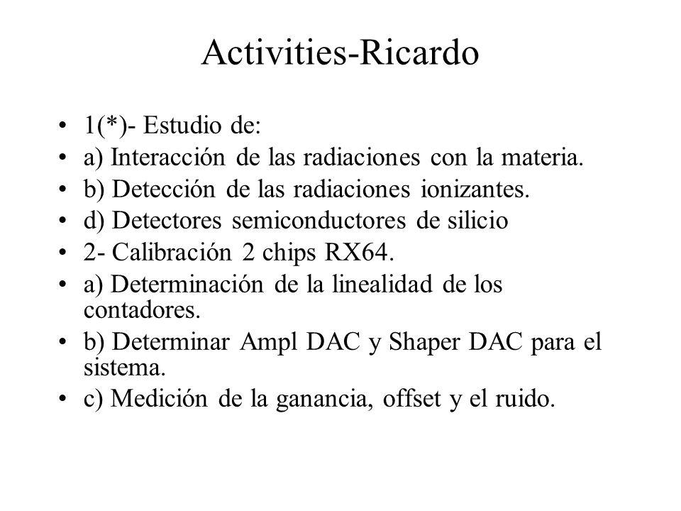 Activities-Ricardo 1(*)- Estudio de: a) Interacción de las radiaciones con la materia.