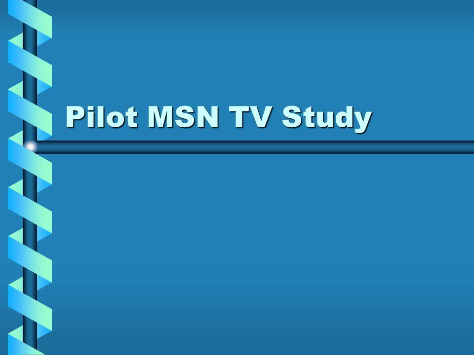 Pilot MSN TV Study