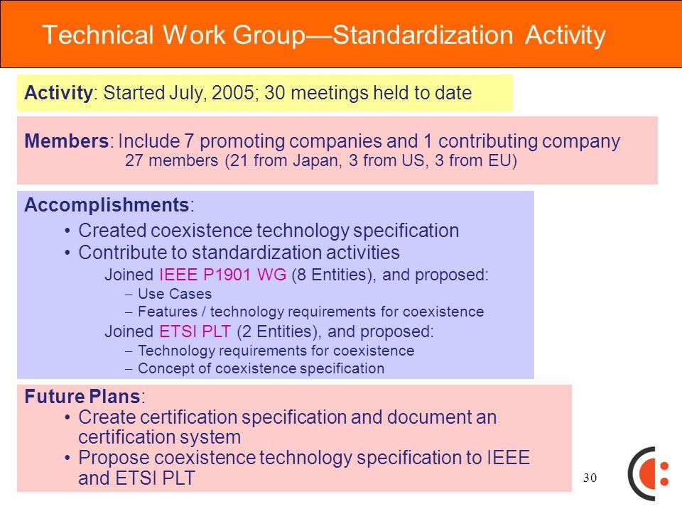 29 Approach to Standardization