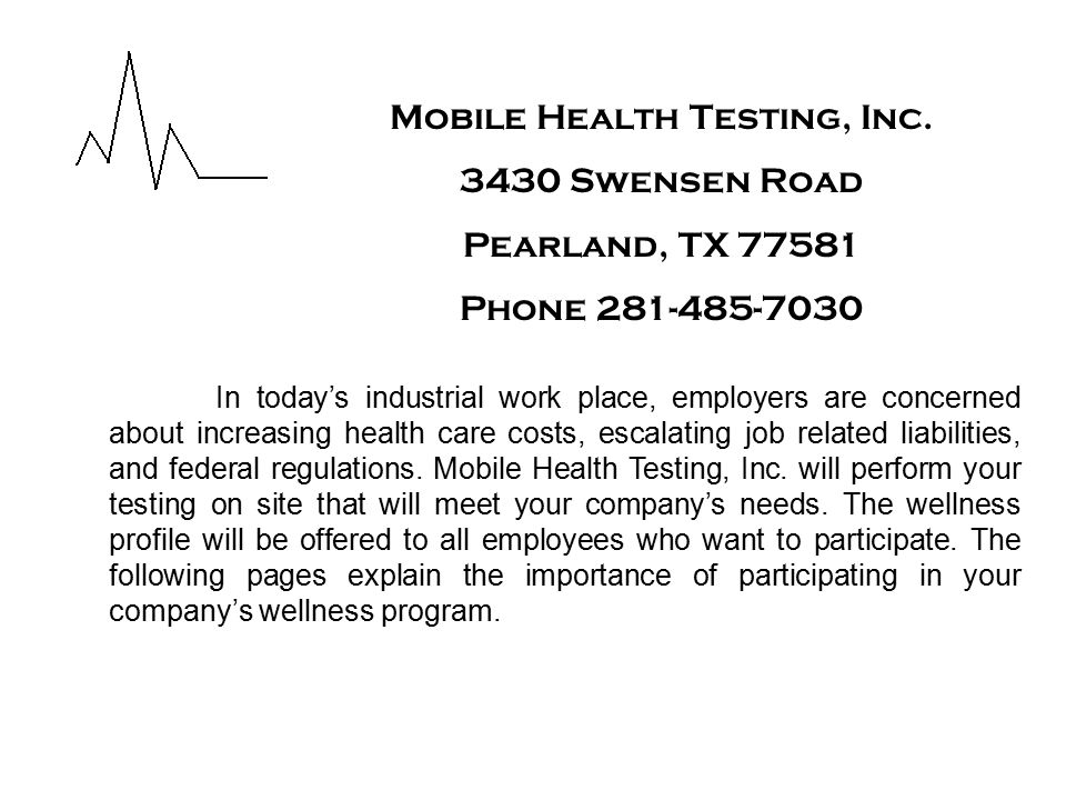 Mobile Health Testing, Inc.