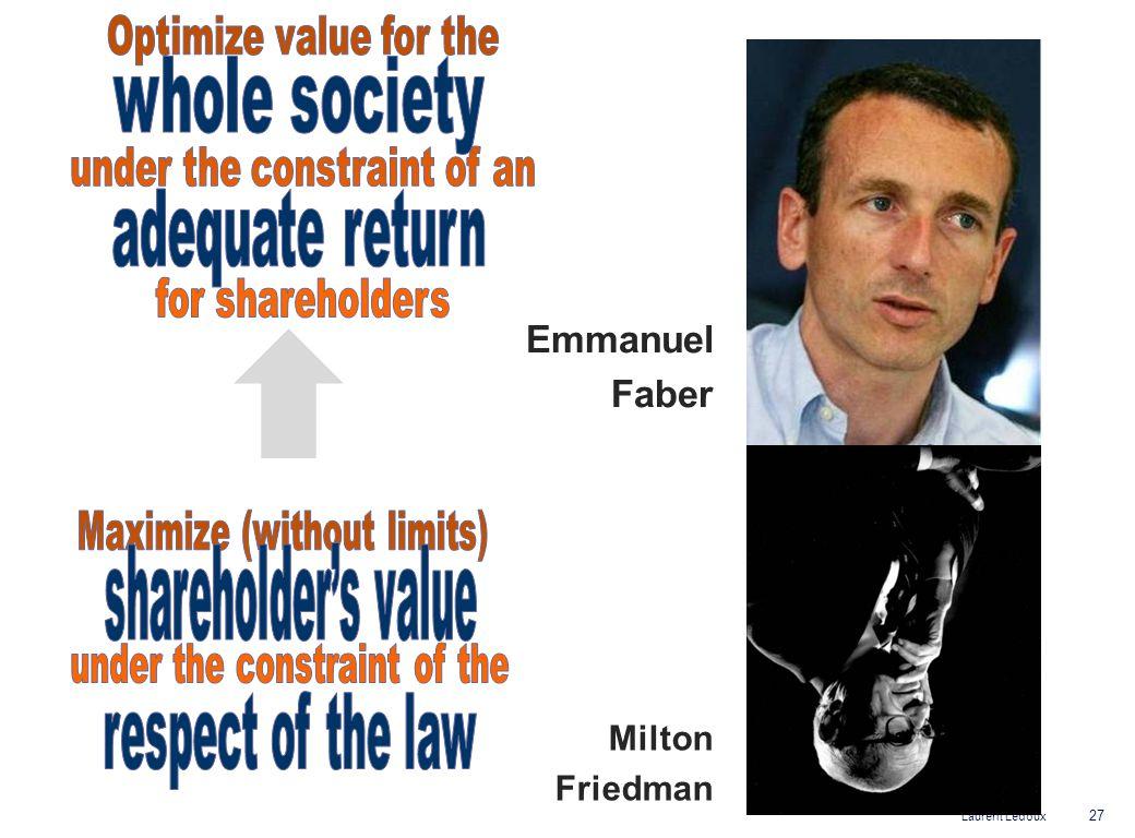 Laurent Ledoux Emmanuel Faber 27 Milton Friedman