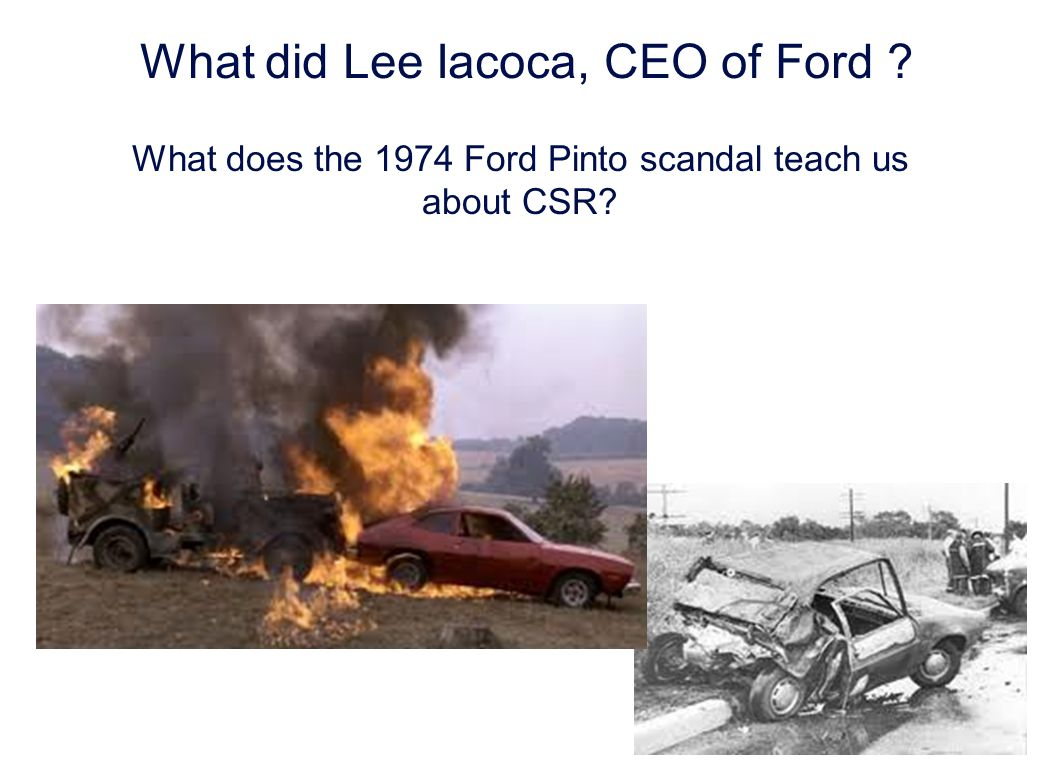 Laurent Ledoux 3 What did Lee Iacoca, CEO of Ford .