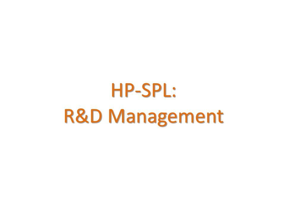 HP-SPL: R&D Management
