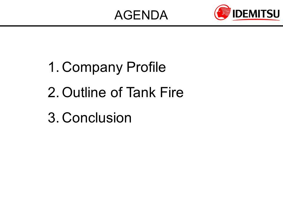 AGENDA 1.Company Profile 2.Outline of Tank Fire 3.Conclusion
