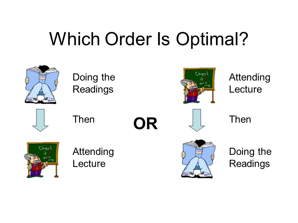 Which Order Is Optimal.