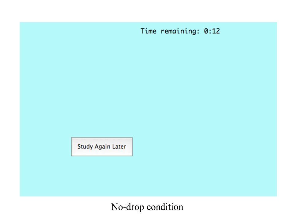No-drop condition