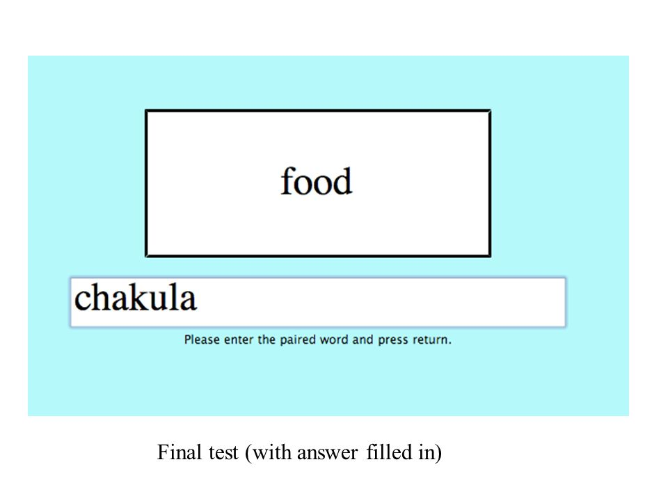 Final test (with answer filled in)