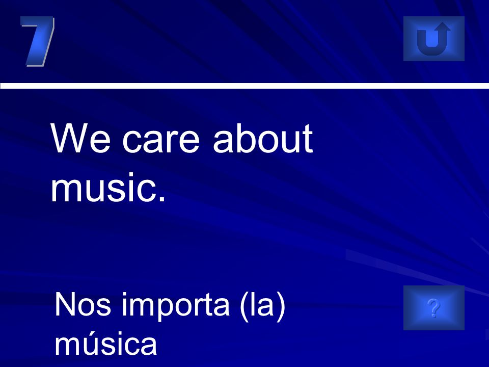 Nos importa (la) música We care about music.