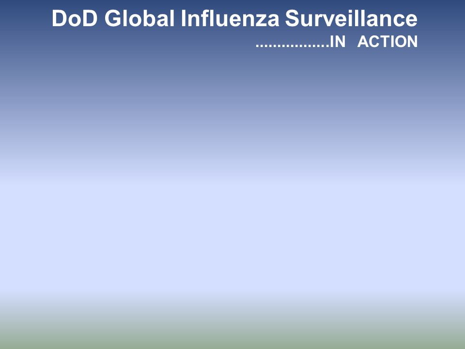 DoD Global Influenza Surveillance.................IN ACTION