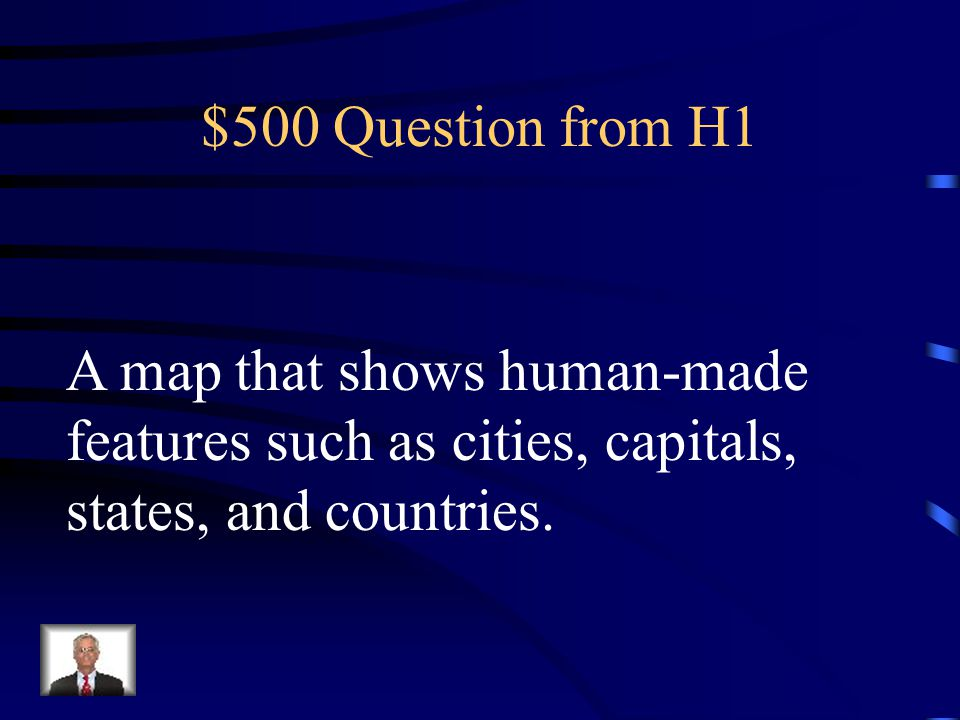 $400 Answer from H1 What is a landform map?