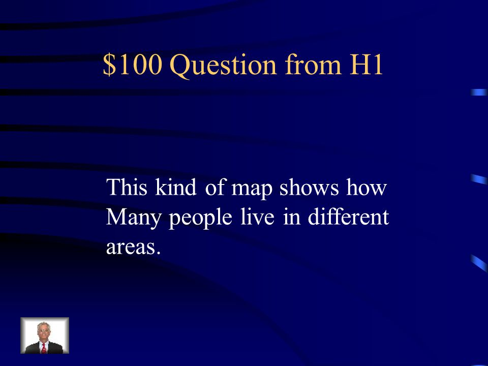 Jeopardy Kinds of maps Directions Parts of a map Miscellaneous Themes of Geography Q $100 Q $200 Q $300 Q $400 Q $500 Q $100 Q $200 Q $300 Q $400 Q $5