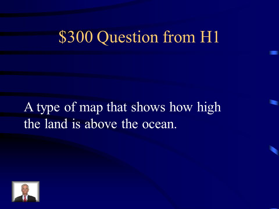 $200 Answer from H1 What is an annual rainfall map?